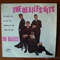 Discos de vinilo: THE BEATLES' HITS, ODEON. Lote 40742752