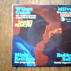 Discos de vinilo: SAN REMO 67 - WILMA GIOCH + MINO REITANO + BOBBY SOLO + MILVA . Lote 40752298