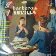 Discos de vinilo: MAGNIFICO LP DEL BARBERO DE SEVILLA- GRAN ORQUESTA SINFONICA BENITO LAURET-DEL AÑO 1959. Lote 40752975
