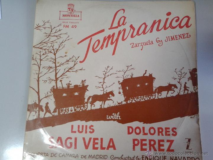 MAGNIFICO LP LA TEMPRANICA - ZARZUELA DE JIMENEZ - (Música - Discos de Vinilo - Maxi Singles - Clásica, Ópera, Zarzuela y Marchas)