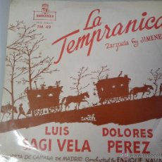 Discos de vinilo: MAGNIFICO LP LA TEMPRANICA - ZARZUELA DE JIMENEZ -. Lote 40753621