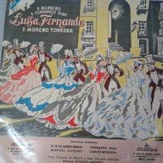 Discos de vinilo: MAGNIFICO LP DE - LUISA FERNANDA - COROS CANTORES DE MADRID Y GRAN ORQUESTA-. Lote 40753760