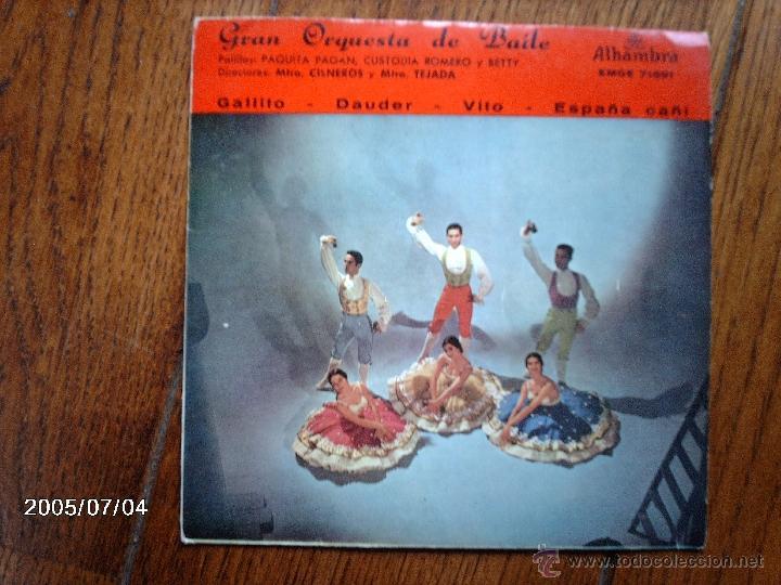 GRAN ORQUESTA DE BAILE - GALLITOT + 3 (Música - Discos de Vinilo - EPs - Flamenco, Canción española y Cuplé)