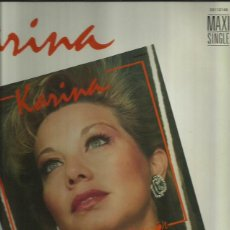Discos de vinilo: KARINA MAXI SINGLE SELLO HISPSVOX AÑO 1987. Lote 40757588