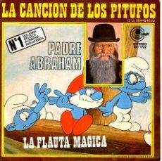 Discos de vinilo: PADRE ABRAHAM - LA CANCIÓN DE LOS PITUFOS. Lote 40758992