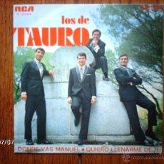 Discos de vinilo: LOS DE TAURO - DONDE VAS MANUEL + QUIERO LLENARME DE TI . Lote 40762760