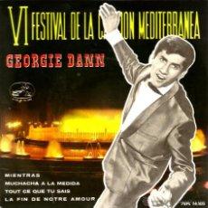 Discos de vinilo: EP GEORGIE DANN : MIENTRAS ( SAN REMO 1962 ) . Lote 40763307