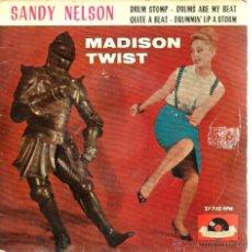 Discos de vinilo: EP SANDY NELSON (FAMOSO BATERISTA BEAT ROCK) : DRUM STOMP + 3. Lote 40763507