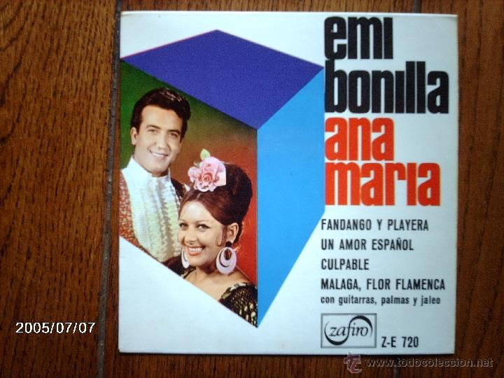EMI BONILLA ANA MARIA - FANDANGO Y PLAYERA + 3 (Música - Discos de Vinilo - EPs - Flamenco, Canción española y Cuplé)