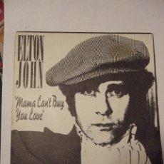 Discos de vinilo: SINGLE VINILO - ELTON JOHN - MAMA CAN'T BUY YOU LOVE - THREE WAY LOVE AFFAIR - 1979. Lote 40770740