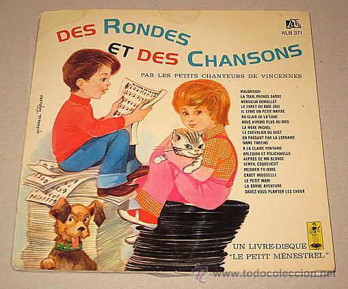 LE PETIT MÉNESTREL. DES RONDES ET DES CHANSONS. LIBRO-DISCO FRANCIA. (Música - Discos de Vinilo - EPs - Música Infantil)