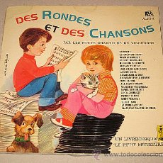 Discos de vinilo: LE PETIT MÉNESTREL. DES RONDES ET DES CHANSONS. LIBRO-DISCO FRANCIA.. Lote 40772804