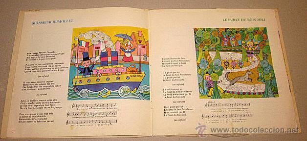 Discos de vinilo: Le Petit Ménestrel. Des Rondes et des Chansons. Libro-disco Francia. - Foto 2 - 40772804