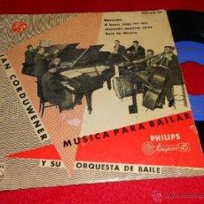Discos de vinilo: JAN CORDUWENER ORQUESTA MURMULLO/ROSA DE MEXICO/EL HUMO CIEGA TUS OJOS +1 EP 1958 SPAIN ESPAÑA. Lote 40777648