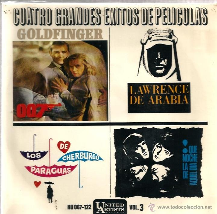LOTE 6 EP´S BANDAS SONORAS: JAMES BOND 007, BEATLES, LA PANTERA ROSA, MONDO CANE, MARY POPPINS,ETC (Música - Discos de Vinilo - EPs - Bandas Sonoras y Actores)