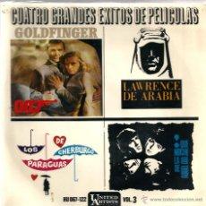 Discos de vinilo: LOTE 6 EP´S BANDAS SONORAS: JAMES BOND 007, BEATLES, LA PANTERA ROSA, MONDO CANE, MARY POPPINS,ETC . Lote 40781549