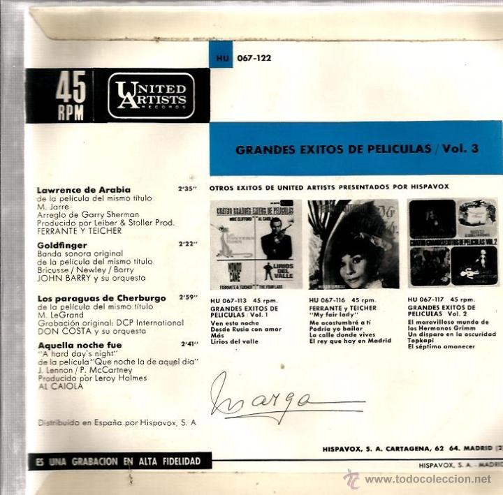 Discos de vinilo: LOTE 6 EP´S BANDAS SONORAS: JAMES BOND 007, BEATLES, LA PANTERA ROSA, MONDO CANE, MARY POPPINS,ETC - Foto 2 - 40781549