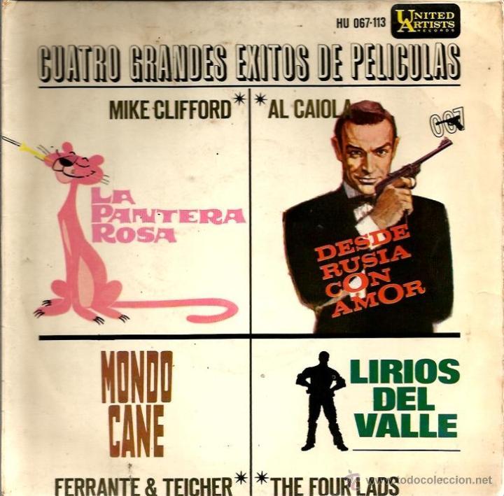 Discos de vinilo: LOTE 6 EP´S BANDAS SONORAS: JAMES BOND 007, BEATLES, LA PANTERA ROSA, MONDO CANE, MARY POPPINS,ETC - Foto 6 - 40781549