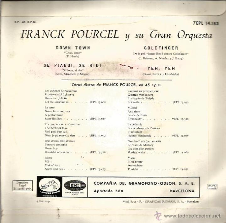 Discos de vinilo: LOTE 6 EP´S BANDAS SONORAS: JAMES BOND 007, BEATLES, LA PANTERA ROSA, MONDO CANE, MARY POPPINS,ETC - Foto 9 - 40781549