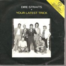 Discos de vinilo: EP DIRE STRAITS : YOUR LATEST TRICK + IRISH BOY + THE ROAD. Lote 40786112