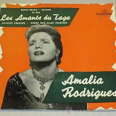 Discos de vinilo: AMALIA RODRIGUES. EP. LES AMANTS DU TAGE. BARCO NEGRO. COLUMBIA MADE IN FRANCE.. Lote 40792953