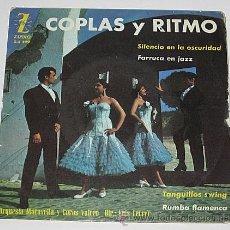 Discos de vinilo: COPLAS Y RITMO..EP. ORQUESTA MARAVELLA Y COROS VALERO. SILENCIO EN LA OSCURIDAD. 1962. Lote 40800612