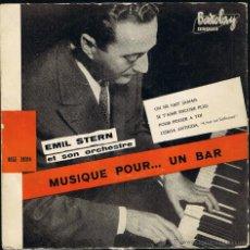 Discos de vinilo: EMIL STERN ET SON ORCHESTRE - MUSIQUE POR UN BAR - BCGE 28014 - BARCLAY. Lote 40803352