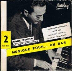 Discos de vinilo: EMIL STERN ET SON ORCHESTRE - MUSIQUE POR UN BAR - BCGE 28015 - BARCLAY. Lote 40803365