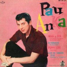 Discos de vinilo: PAUL ANKA, EP, ADAN Y EVA + 3, AÑO 1960. Lote 40803601