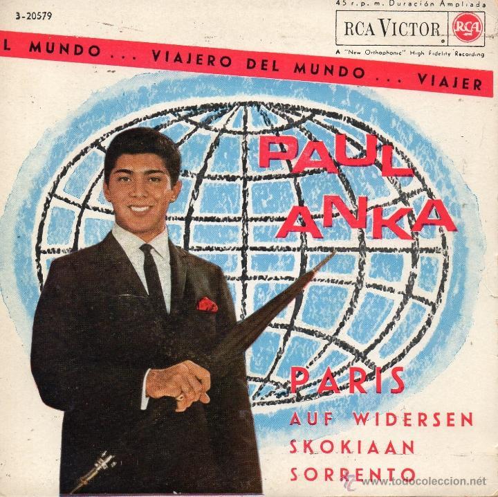 PAUL ANKA, EP, PARIS + 3, AÑO 1963 (Música - Discos de Vinilo - EPs - Pop - Rock Extranjero de los 50 y 60)