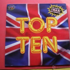 Disques de vinyle: TOP TEN - 1 LP + 1 MAXI - ITALO-DISCO BLANCO Y NEGRO MUSIC 1989 VER FOTO ADICIONAL PEPETO. Lote 40804507