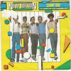 Discos de vinilo: NEW EDITION - CANDY GIRL, SINGLE DE LONDON EN 1983. Lote 40806275