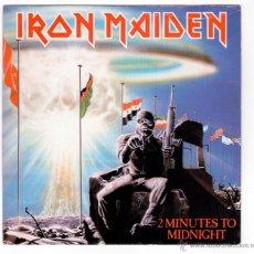 Discos de vinilo: IRON MAIDEN - 2 MINUTES TO MIDNIGHT (PROMO). Lote 40815887