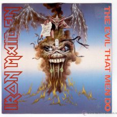 Discos de vinilo: IRON MAIDEN - THE EVIL THAT MEN DO. Lote 40815913