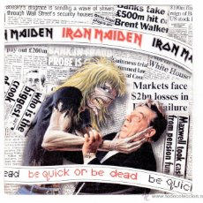 Discos de vinilo: IRON MAIDEN - BE QUICK OR DEAD. Lote 40815970