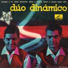 Discos de vinilo: DUO DINAMICO, EP, QUIERO + 3, AÑO 1962. Lote 40819958