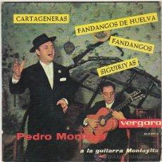 Discos de vinilo: PEDRO MONTOYA - A LA GUITARRA MONTOYITA. SINGLE DEL SELLO VERGARA DEL AÑO 1.963. Lote 40825731
