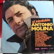 Discos de vinilo: ANTONIO MOLINA - EL INIMITABLE ANTONIO MOLINA . Lote 40832897