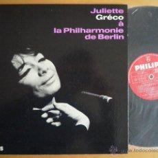 Discos de vinilo: JULIETTE GRÉCO À LA PHILARMONIE DE BERLIN - PHILIPS ARTISTIQUE TIRAGE LIMITÉ (FR) MONO ORIGINAL. Lote 40834606