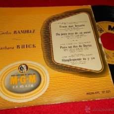 Discos de vinilo: CARLOS RAMIREZ / BARBARA RUICK I HAD TO KISS YOU/JUST YOU JUST ME +2 EP 195? ESPAÑA SPAIN. Lote 40835682
