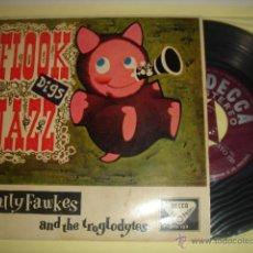 Discos de vinilo: WALLY FAWKES & THE TROGLODYTES -EP- LUCKY DUCK + 3 - RARE SPAIN ED 1960. Lote 40838994