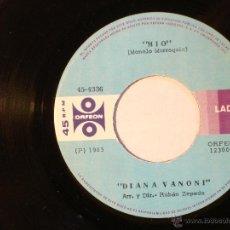 Discos de vinilo: DIANA VANONI - MIO / LOCA, LOCA - ORFEON 45-4336 - 1985 - EDICION MEXICANA. Lote 40842034