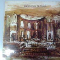 Discos de vinilo: LP DE ALFREDO KRAUS -- CANCIONES ITALIANAS -. Lote 40842619