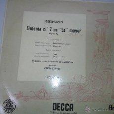Discos de vinilo: LP DE BEETHOVEN SINFONIA Nº 7 EN LA MAYOR. Lote 40842625