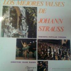 Discos de vinilo: GRAN LP DE LOS MEJORES VALSES DE JHOANN STRAUSS-ORQUETA POPULAR VIENESA. Lote 40842644