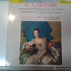Discos de vinilo: GRAN LP CLASICO DE W . A . MOZART SINFONIA CONCERTANTE, PARA VIOLIN, VIOLA , Y ORQUETA -. Lote 40842646