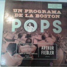Discos de vinilo: GRAN LP DE ARTHUR-FIEDLER-UN PROGRAMA DE LA BOSTON- POPS -. Lote 40842648