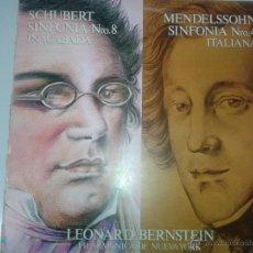 Discos de vinilo: GRAN LP DE SCHUBERT - SINFONIA - 8 - INACABADA Y MENDELSON SINFONIA N 4 ITALIANA. Lote 40842651