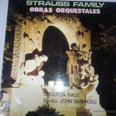 Discos de vinilo: GRAN LP DE STRAUSS - FAMILY EN OBRAS ORQUETALES -. Lote 40842657