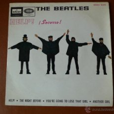 Discos de vinilo: THE BEATLES, HELP! ¡SOCORRO! ODEON Y EMI. Lote 40850456